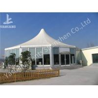 Buy cheap Transparent Glass Wall Gazebo Marquee Pagoda Wedding Tents White PVC Cover from wholesalers
