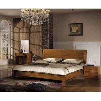 Quality China simple design wood double bed for sale