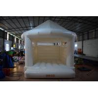 Quality White Colour 0.55mm PVC Tarpaulin Inflatable Jumpers For Wedding CE UL EN14960 for sale