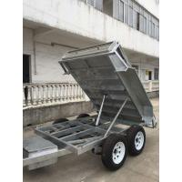 China Heavy Duty Galvanised 8x5 Tipping Trailer , Hydraulic Electric Tipper Trailers on sale