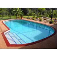 Quality Anti - Slip Pool Rubber Flooring , Playground Fragmented EPDM Granules Flooring for sale