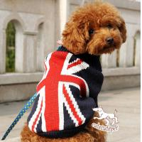 China dog sweater with US flag style on sale