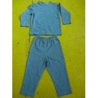 Quality Solid Colors Children'S Cotton Pajamas Simple Boys Two Piece Pajamas Lightweight for sale