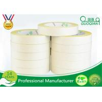 Yellow Tissue Cotton Paper Industrial Strength Double Sided Tape Roll for sale