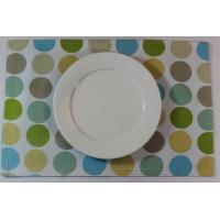 Quality Blue Dot Dining Table Mats Custom Printed Placemats For Adults for sale