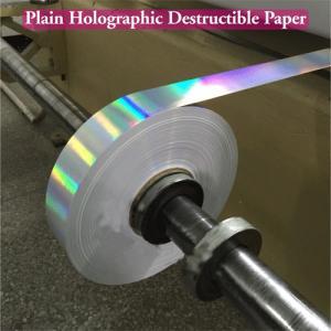 Quality Ultra Destructible Tamper Evident Label Material , 3D Hologram Stickers for sale