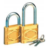 Quality Cast Globe Brass High Security Padlock Short / Long Beam With Three Iron Keys for sale