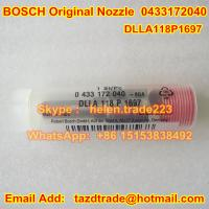 Buy BOSCH original NOZZLE 0433172040 , 0 433 172 040 , DLLA118P1697 , DLLA 118 P at wholesale prices