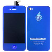 Quality Blue Touch Digitizer & LCD Display & Back Cover & Button Assembly For Apple iPhone 4 for sale