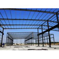 Quality Glass Cover Steel Frame Greenhouse , Galvanized Steel Greenhouse Frame Studdy for sale