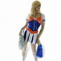 Quality Fancy Dress Costume, Cheerleader Costume, Includes Skirt and Pom Poms for sale