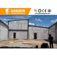 China 100MM Reinforced Eps Solid Core composite exterior wall panels 1000℃ Fireproof on sale
