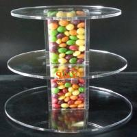 Quality Unique Candy Acrylic Clear Food Display Stands 300pcs Tower Tube for sale