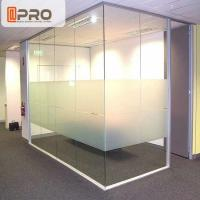 Quality Soundproof Modular Office Walls , Insulated Glass Office Partitions for sale
