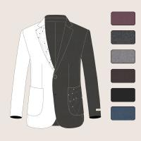 Buy cheap Handmade Men Woolen Coats with Embroidery Notch Lapel and Patch Pockets 1 Button from wholesalers
