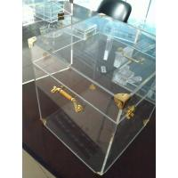 Quality 4mm Acrylic Display Case Clear , Plexiglass Storage Boxes with Lids for sale