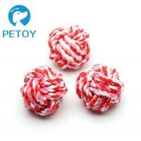 Quality Cotton Indestructible  Rope Ball Dog Toy Bright Color  ODM Services for sale