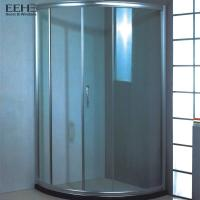 Quality Frameless Safety Tempered Glass Shower Enclosure With Four Wheel Rollers for sale