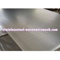 Quality Stainless Steel Perforated Metal Sheet Round Hole High Temperature Oxidation Resistance for sale