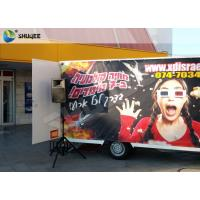 Quality Luxury Motion Chair Truck Mobile 5D Cinema With Snow / Bubble / Windy Simulation for sale