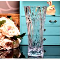 Buy Clear Castle Decorative Glass Vases Stock Handwash Classical Type For Flower at wholesale prices