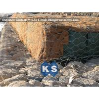 Quality Double-Twisted Hexagonal Gabion Mesh PVC Coated Wire Stone Gabion Cages for sale