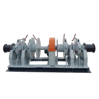 China Cable Dia 60mm 65mm Drum Capacity 200m 2 Ton Power Winch Machine on sale