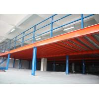 China Steel Mezzanine Floor Construction For Storage , Industrial Mezzanine Systems  on sale
