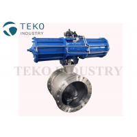 Wafer End Metal Seated V Port Segment Ball Valve With ISO Mounting Pad for sale