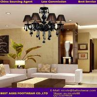 Quality New Modern Black Murano Glass Crystal Chandelier Light for sale