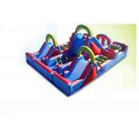 Waterproof Colorful 60m x 7m x 10m Inflatable Obstacle Course rentals For Kids And Adults