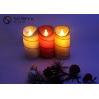 Quality Colorful Moving Flame Led Candles Paraffin Wax Material 7.5cm Diameter for sale