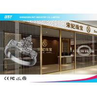 Quality Small Transparent Led Curtain Display Screen , High Contrast Mesh Led Display for sale