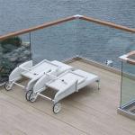 Aluminum U Channel external balustrades and handrails for wood decking