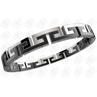 Quality Black White Surgical Hinged Stainless Steel Bracelets For Men / Women for sale