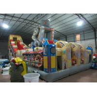 Quality Big giant inflatable robot fun citty robot inflatable amusement park for children commercial inflatable fun city for sale