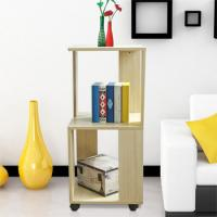 Quality Movable Home Office Wooden Book Rack Maple With Two Layer Storage Space for sale