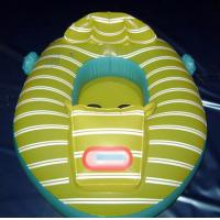 China Yellow Custom Logo Inflatable Fishing Boat and Inflatable BB boat for water games on sale