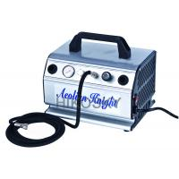 Quality Oil-less Dual Piston Mini Air Compressor with Aluminum Covers 1/5HP Power 110 - 120V/60HZ for sale