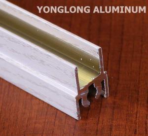 Quality White Wardrobe Aluminium Profile For Cabinets Rectangular Shape for sale
