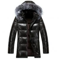 Quality Cool Winters Hooded Anorak Jacket With Fur Hood , Mens Padded Leather Jacket for sale