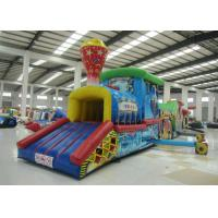 Quality Colourful Amusement Park Blow Up Bounce House , Outdoor Obstacle Course Moon Bounce Inflattable Tunnel for sale