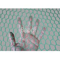 Quality Plastic Poultry Chicken Wire Mesh Net With Hexagonal Mesh , Green PVC Coated for sale