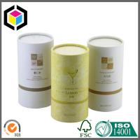 Quality Gold Logo Print Cardboard Cosmetic Tubes; Custom Color Print Tea Paper Tubes for sale