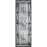 Quality decorative glass panel with iron art for sale