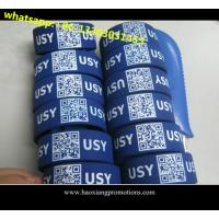 Quality high quality low cost silicone wristbands ,custom debossed QR code ID silicone wristband for sale