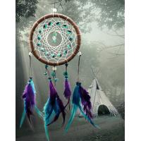 Quality Antique Imitation Dreamcatcher Gift checking Dream Catcher Net With natural stone Feathers Wall Hanging Decoration Ornam for sale