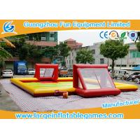 Quality Subbuteo Inflatable Football Field / Soccer Area inflatable soccer  For Bubble Bumper Ball Football Games for sale