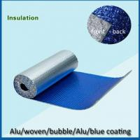 Quality Singles sided aluminum foil backed  blue PE coated with cloth for sale