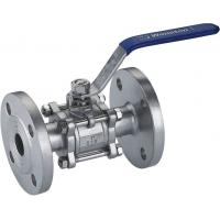 Cast steel flange ball valve for sale